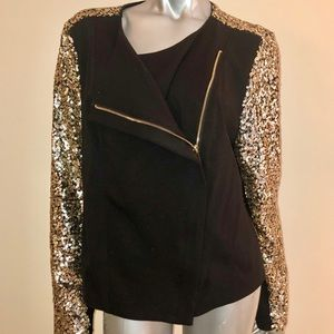 Gibson Latimer Jacket Blazer Sequins Evening Large